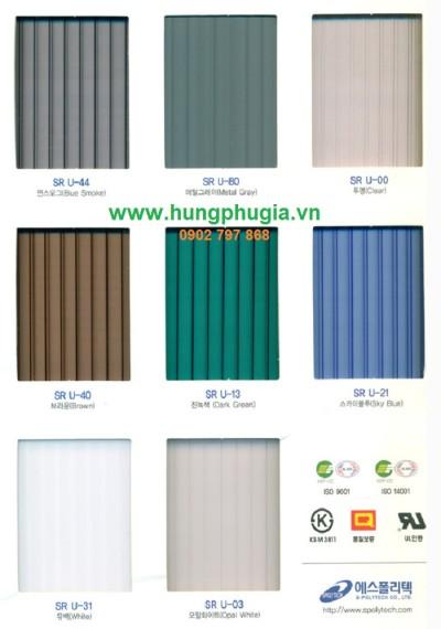 Tấm Lợp Lấy Sáng Polycarbonate S-POLYTECH Hàn Quốc